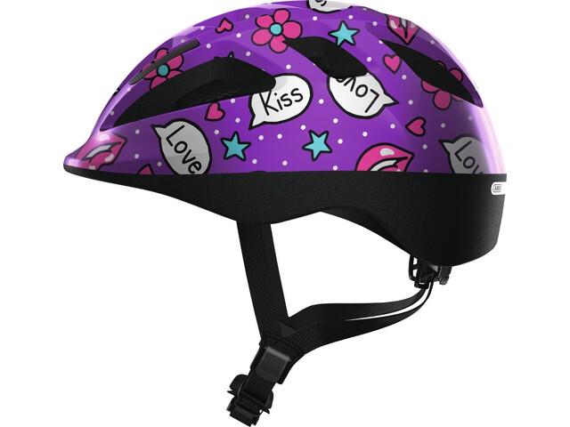 ABUS Smooty 2.0 Casque Enfant, purple kisses